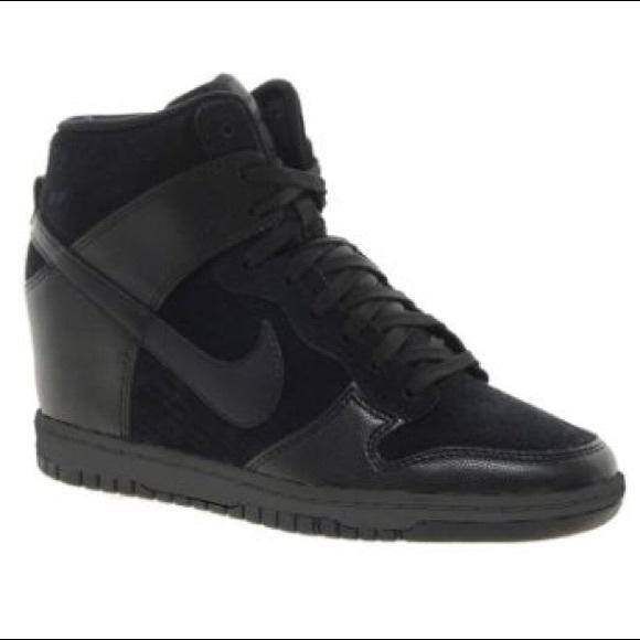 le scarpe nike 190 schiacciata in alto nel cielo nero cuneo formatori 8 poshmark
